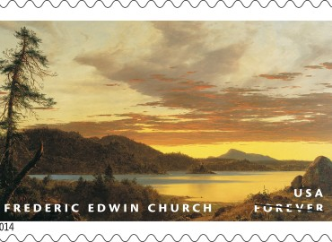 sunset stamp