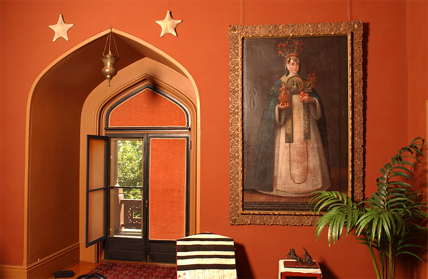 "A corner of the Studio, showing ""Sor Pudenciana"" by Andres Lopez, c. 1782.  Photo by  Andy Wainwright."