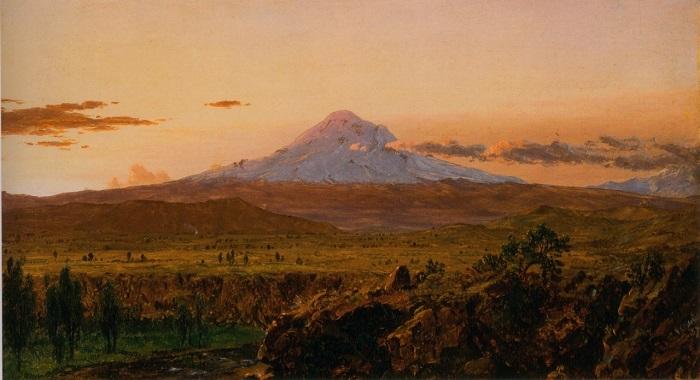 Mount Chimborazo at Sunset SMALL