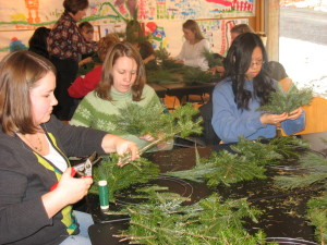 Wreath Making at Olana photo by Sarah Hasbrook