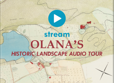 stream olana historic Landcape Tour button
